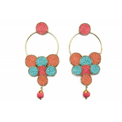 Korvakorut/ATOLL-PALME, Bohemian Embroided Earrings
