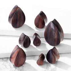 Plugi 12mm, Organic Sono Wood Tear Drop (puinen plugi)