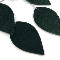LEMPI-korvakorut, Lehdet (vihreä kierrätysmokka, 3-os)