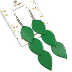 LEMPI-korvakorut, Lehdet (vihreä, 3-os)