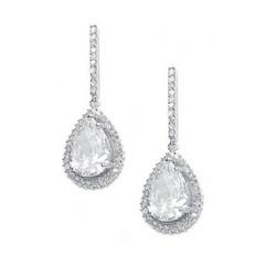 Kristallikorvakorut/ATHENA BRIDAL JEWELLERY, Chic Teardop