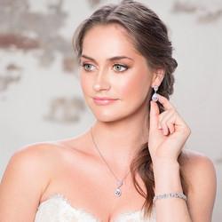 Kristallikorusetti, ATHENA BRIDAL JEWELLERY|Dainty Teardrop