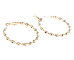 Korvakorut, korvarenkaat, KOA Collection/Swirly Gold Hoops