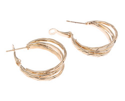 Korvakorut, korvarenkaat, KOA Collection/Diamond Cut Gold Hoops