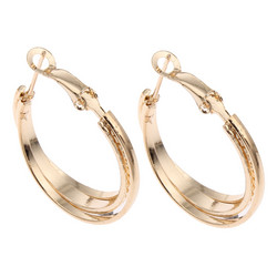 Korvakorut, korvarenkaat, KOA Collection/Simple Decoration Gold Hoops