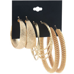 Korvakorut, korvarenkaat, KOA Collection/Three Pairs of Gold Hoops