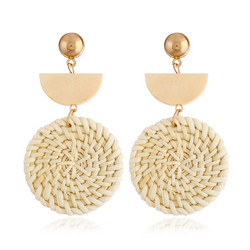 Puukorvakorut, rottinkikorvakorut/Light Natural Rattan Earrings