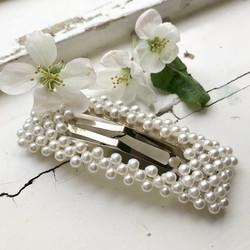 Hiuskoru, pinni|SUGAR SUGAR, Oversized Rectangle Pearl Clip