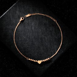Nilkkakoru|HOLIDAY COLLECTION/Classic Rosegold Anklet with Heart Decoration