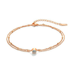 Nilkkakoru|HOLIDAY COLLECTION/Classic Rosegold Anklet with Two Layers