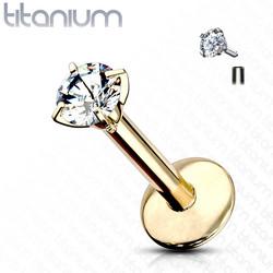 Rustokoru/traguskoru, Titanium Round CZ Gold