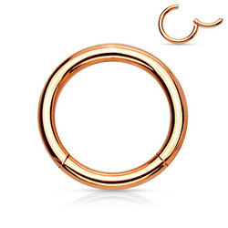 Lävistysrengas, Hinged Segment Ring in Rosegold 1mm/useita kokoja