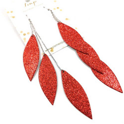 LEMPI-korvakorut, Laura (punainen glitter, kolmiosainen)