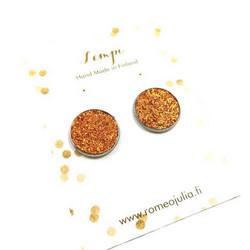 LEMPI-korvanapit, Veera (oranssi glitter, L)