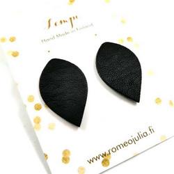 LEMPI-korvanapit, Lehti (musta, L)