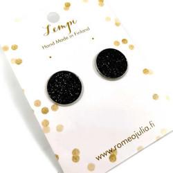 LEMPI-korvanapit, Veera (musta glitter, L)