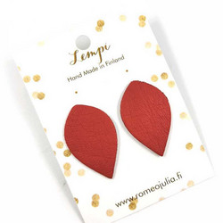 LEMPI-korvanapit, Lehti (punainen, L)