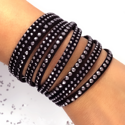 Rannekoru, Black and Grey Twist Bracelet