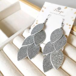 LEMPI-korvakorut, Vilja (hopea glitter)