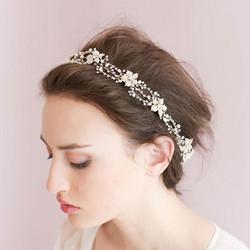 Hiuskoru, köynnös/ROMANCE, Luxury Headpiece with Pearls