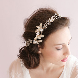 Hiuskoru, köynnös/ROMANCE, Luxury Headpiece with Pearls