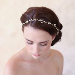 Hiuskoru, panta/ROMANCE, Delicate Twine Headpiece in Gold