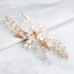 Hiuskoru, hiuskampa/ROMANCE, Romantic Hairpiece in Gold