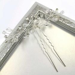 Hiuskoru, hiuskampa/ROMANCE, Delicate Hairpiece in Clear