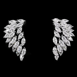 Korvanapit, Crystal Wings in Silver