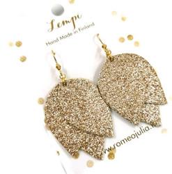 LEMPI-korvakorut, Tulppaani (kulta glitter)