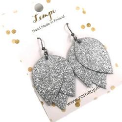 LEMPI-korvakorut, Tulppaani (hopea glitter)
