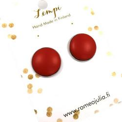 LEMPI-korvanapit, Veera (punainen, puinen)