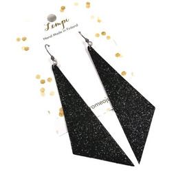 LEMPI-korvakorut, Viima (musta glitter)