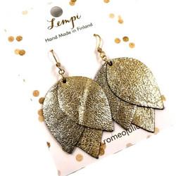 LEMPI-korvakorut, Tulppaani (kulta, nahka)