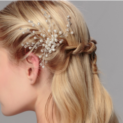 Hiuskoru, hiuskampa/Floral Hairpiece with Pearls