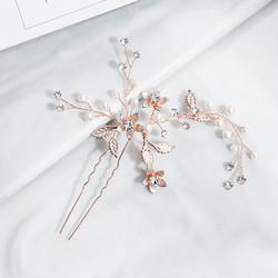Hiuskoru, hiuskampa/ROMANCE, Rosegold Hairpiece with Pearls