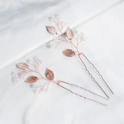Hiuskoru, hiuskampa/ROMANCE, Minimalistic Hairdecoration in Rosegold