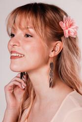 LEMPI-korvakorut, Vilja (ruusukulta, poronnahkaa)