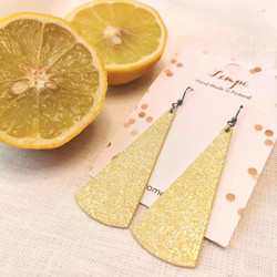 LEMPI-korvakorut, Kajo (keltainen glitter)