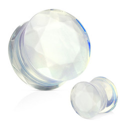 Plugi 10mm, Opalite Faceted Gem (opaliitti luonnonkivi)