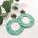 Korvakorut, Round Mint Earrings with Gold Details