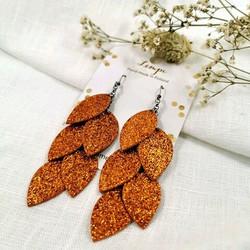 LEMPI-korvakorut, Vilja (oranssi glitter)