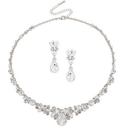 Kristallikorusetti, ATHENA BRIDAL|Crystal Enchantment Necklace Set