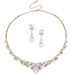 Kristallikorusetti, ATHENA BRIDAL|Crystal Enchantment Necklace Set (G)