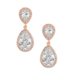 Kristallikorvakorut, ATHENA BRIDAL|Dainty Teardrop Earrings (RG)