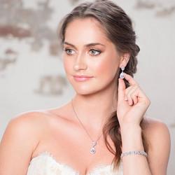 Kristallikorvakorut, ATHENA BRIDAL Dainty Teardrop Earrings (RG)