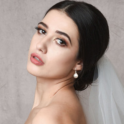 Helmikorvakorut, ATHENA BRIDAL JEWELLERY|Classic Pearl Earrings