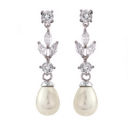 Helmikorvakorut, ATHENA BRIDAL JEWELLERY|Classic Long Pearl Earrings