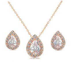 Kristallikorusetti, ATHENA BRIDAL JEWELLERY|Elegant Rosegold Teardrop