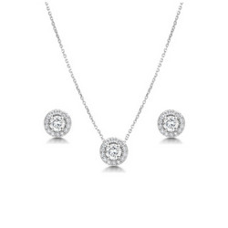 Kristallikorusetti, ATHENA BRIDAL|Crystal Sparkle Necklace Set